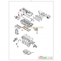 ГАРНИТУРИ ДВИГАТЕЛ КОМПЛЕКТ ГОРНИ (METAL) 1.6L (G4ED) ELANTRA, COUPE 2092026D00