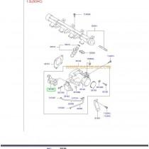 КЛАПАН РЕГУЛАТОР ПРАЗЕН ХОД (стъпков мотор)  (G4E*), 2.0L (G4GC) 3515022600