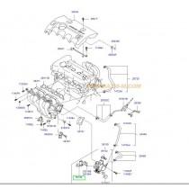 КЛАПАН РЕГУЛАТОР ПРАЗЕН ХОД (стъпков мотор)  1.4/1.6L (G4F*) 351502B000