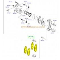 НАКЛАДКИ ПРЕДНИ 15  CERATO (04-08) SPK3210