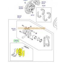НАКЛАДКИ ЗАДНИ  SANTA FE (06-09), H-1/STAREX (05-07) MPH34